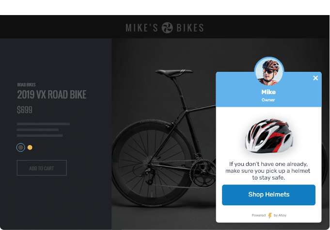 Mike's Bikes Ecommerce Upsell
